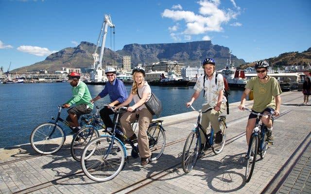 Awol Fahrrad Fahren in Kapstadt