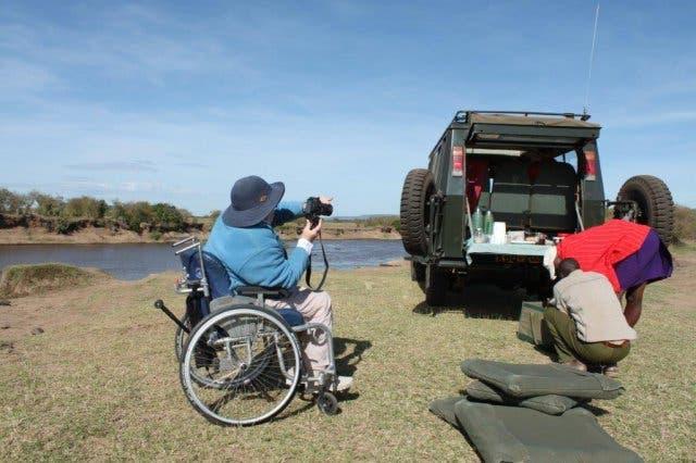 Rollstuhl Strand Kapstadt Südafrika