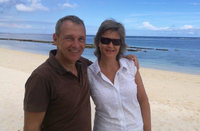 Michael Hauser mit Frau Andrea im Urlaub