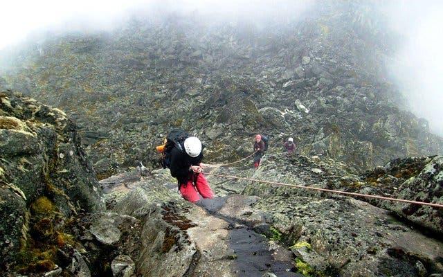Abseilen vom Tafelberg