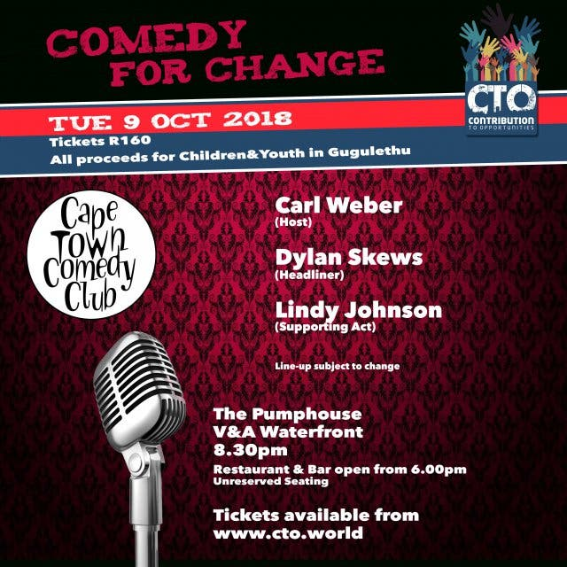 Comedy for change 9. 10.2018
