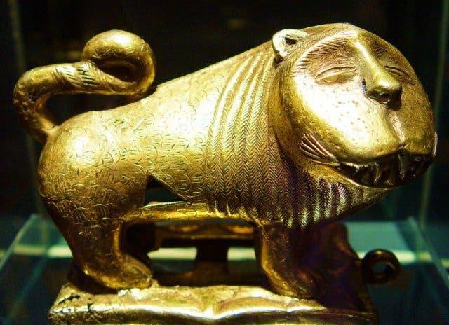 Der goldene Löwe Afrikas in Kapstadt