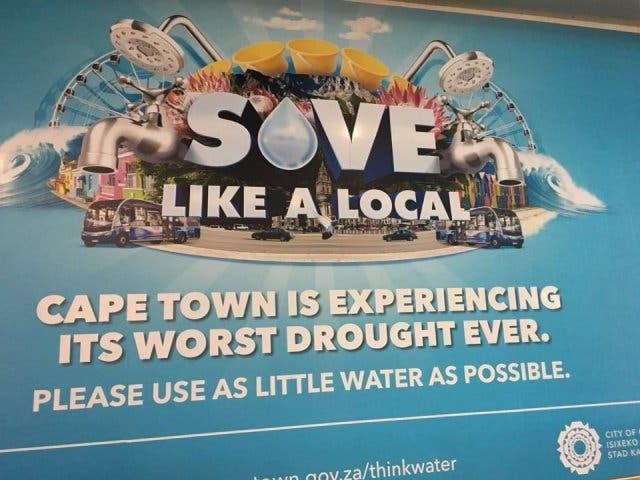 Wasser Sparen Kapstadt