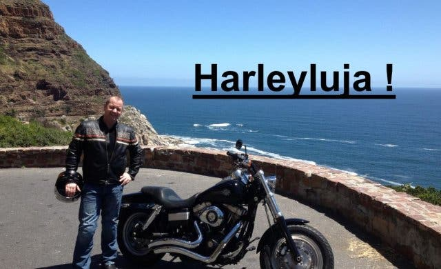 Route 62 mit Harley