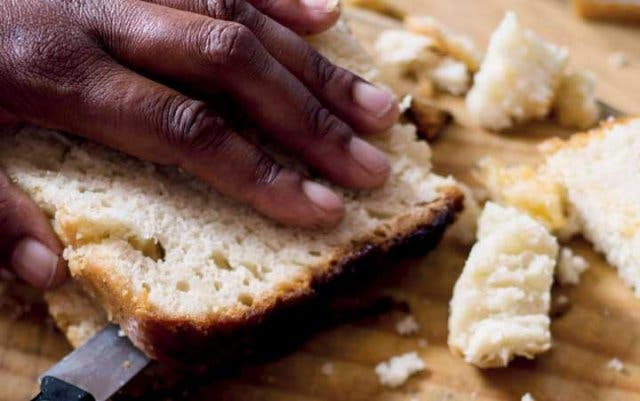Ujeqe isonka samanzi südafrikanisches Essen Brot