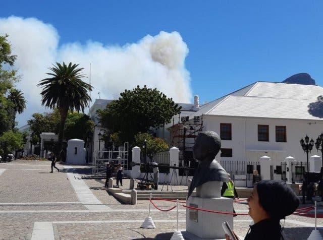 Feuer in Kapstadt 7 Februar 2019