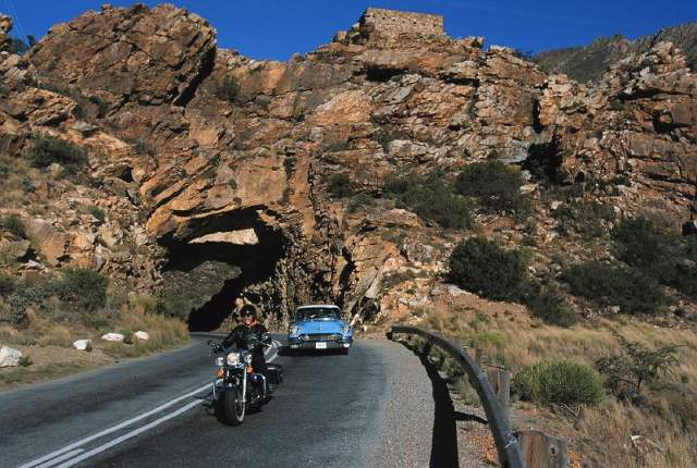 Motorrad tour durch das Weinland Südafrikas