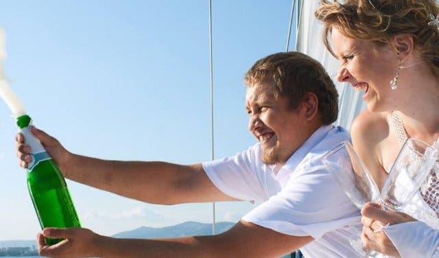 Heiraten auf einer Yacht