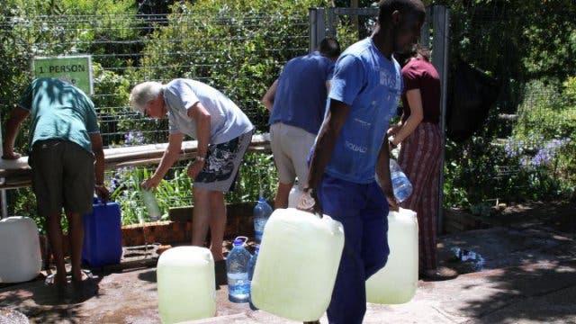 Wasserstelle in Kapstadt