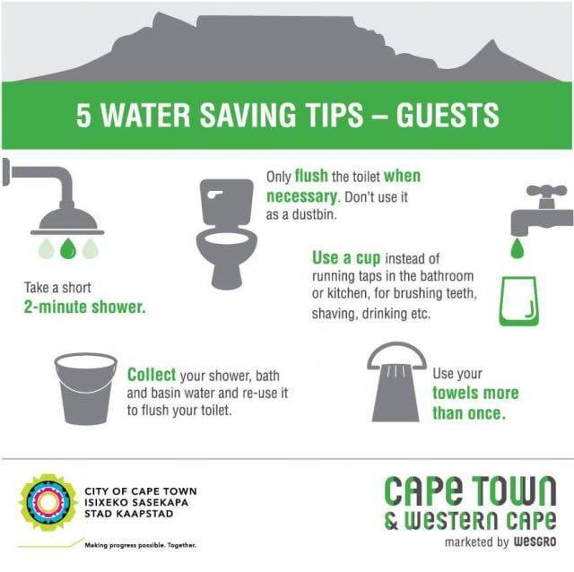 Wasser Sparen Kapstadt 1