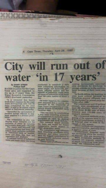 Wasserkrise 1990