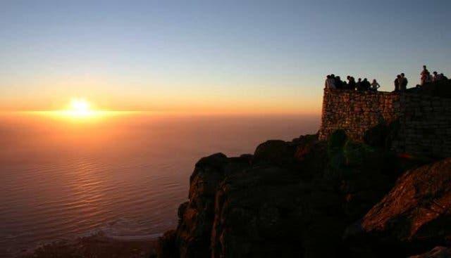 Tafelberg Kapstadt, Sonnenuntergang