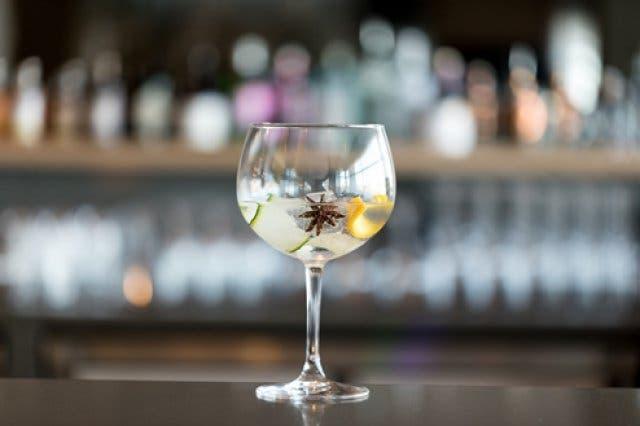 Gin an der Bar