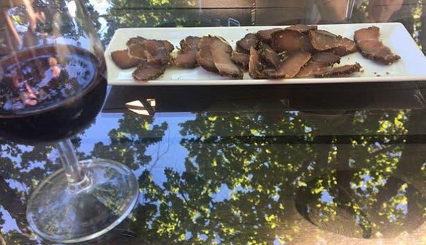 wine flies biltong and wine