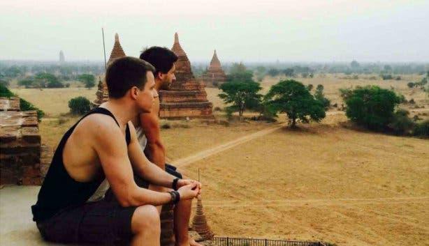 Christoph und Adrien auf einer ihrer Reisen