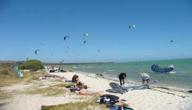 langebaan Beach Kite surfing