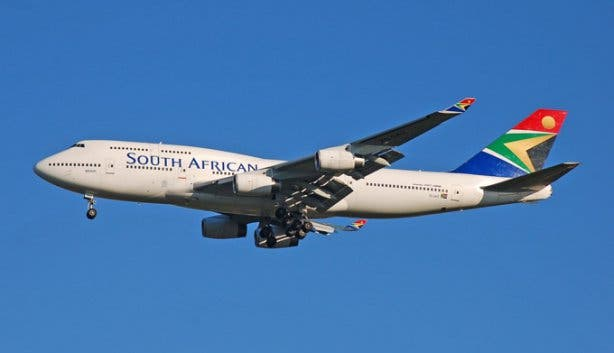 South african airways airplane